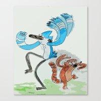 regular show Canvas Prints featuring The Regular Show 'OOHHHH'  by Renatta Maniski-Luke