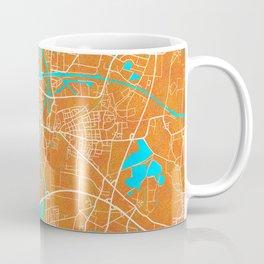 Minden, Germany, Gold, Blue, City, Map Coffee Mug