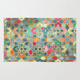 Gilt & Glory - Colorful Moroccan Mosaic Rug