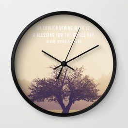 An early morning walk is a blessing for the whole day Wall Clock