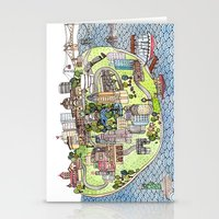 new york city Stationery Cards featuring New York City Love by Brooke Weeber