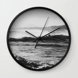 Wind and Waves - Santa Monica  Wall Clock