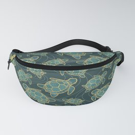 Japanese Pond Turtle / Teal Fanny Pack