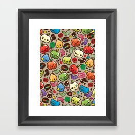 Apple Pattern Framed Art Print
