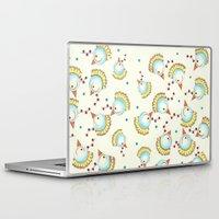 chicken Laptop & iPad Skins featuring Chicken by Natalia Burgos