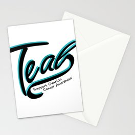 Teal Support Ovarian Cancer Awareness Stationery Cards