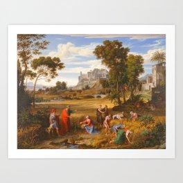 Joseph Anton Koch (Austrian, 1768–1839) Landscape with Ruth and Boaz, ca. 1823–25 Art Print