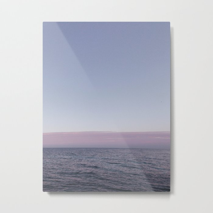 Calm sea before sunrise Metal Print