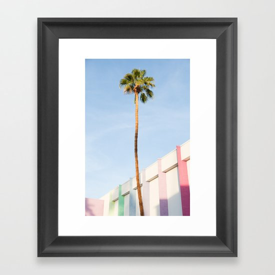 Palm at the Saguaro Framed Art Print