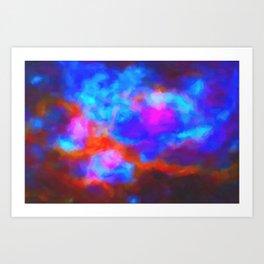 Abstract Galactic Nebula with cosmic cloud 7   24x16.. Art Print