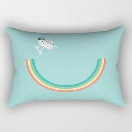 Skateboarding cloud Rectangular Pillow