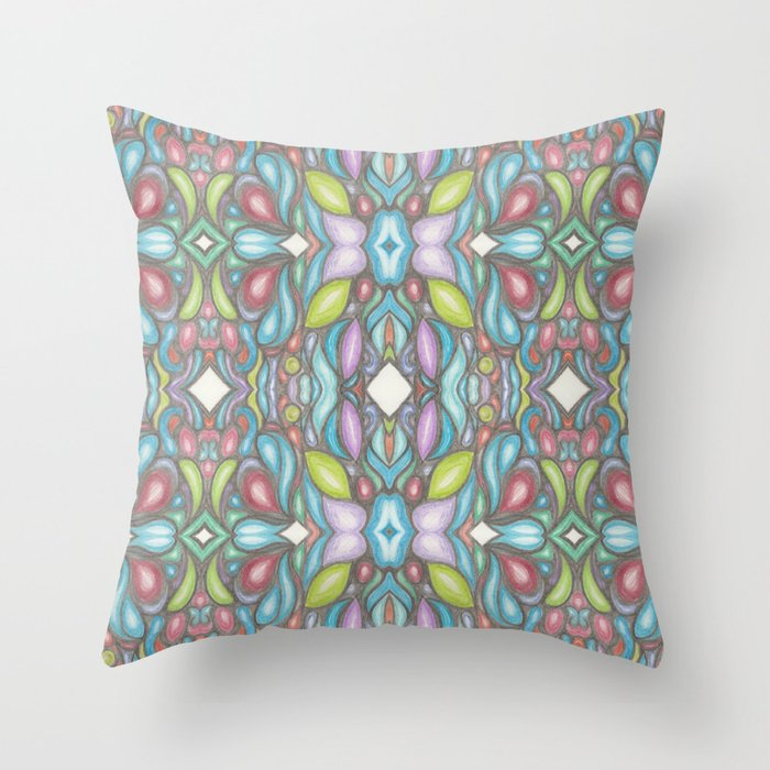 Pattern - Colors of your Heart Throw Pillow