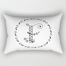 F - decorative monogram. Rectangular Pillow