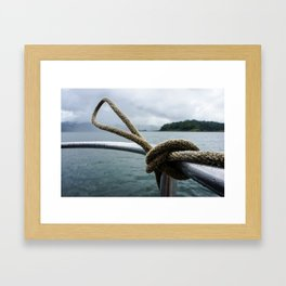 ARENAL LAKE Framed Art Print