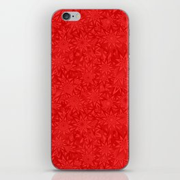 Red geometric star pattern iPhone Skin