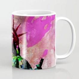 Statue of Liberty Abstract Art Coffee Mug