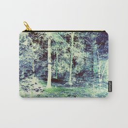 Blue Green Forest Carry-All Pouch