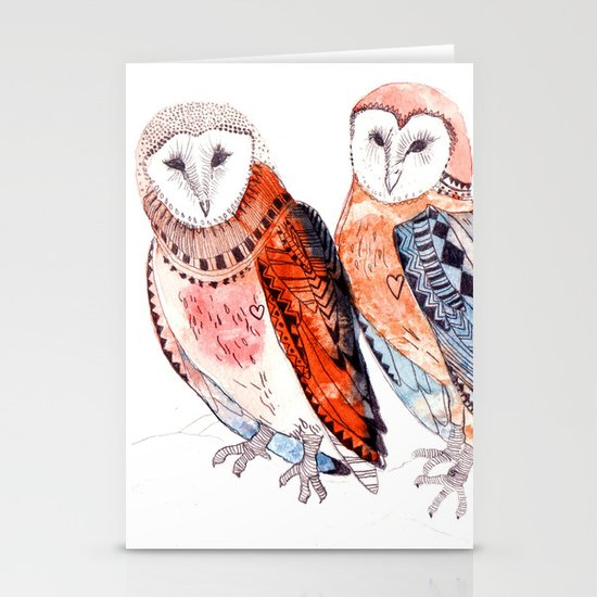 LOVE owls Stationery Cards
