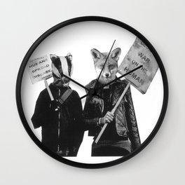 Ed Badger and Kate Fox (colour) Wall Clock