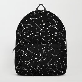 Zodiac Signs Constellations B&W Backpack
