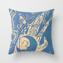 Show me how to live in blue Throw Pillow