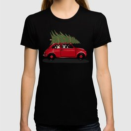 Red Bringing Home The Christmas Tree T-shirt