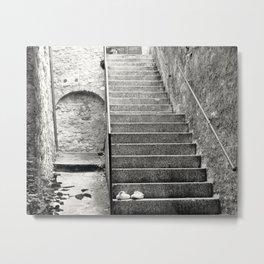 Italian street stairs Metal Print