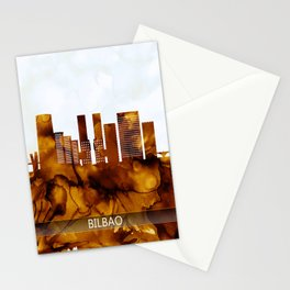 Bilbao Spain Skyline Stationery Cards