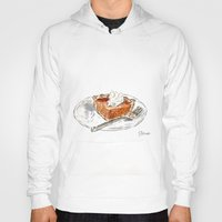 pie Hoodies featuring Pumpkin Pie by Elena Sandovici
