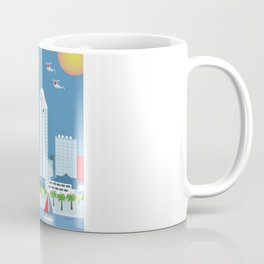 San Diego, California - Skyline Illustration by Loose Petals Coffee Mug