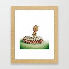 Running Biscuit Framed Art Print