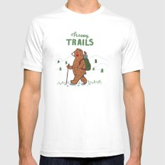 Happy Trails MEDIUM White Mens Fitted Tee