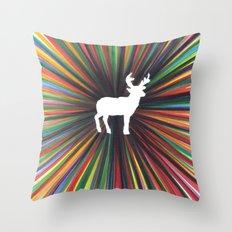 young deer Throw Pillow