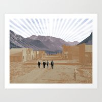 western Art Prints featuring Western by J Will Morrison Design