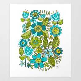 Botanical Doodles Art Print