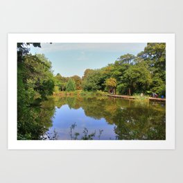 A Lovely Walk Round Priory Park Art Print