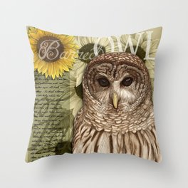 The Barred Owl Journal Throw Pillow