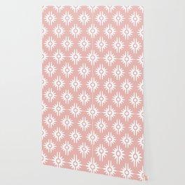 Mid Century Modern Bang Pattern 271 Dust Rose Wallpaper