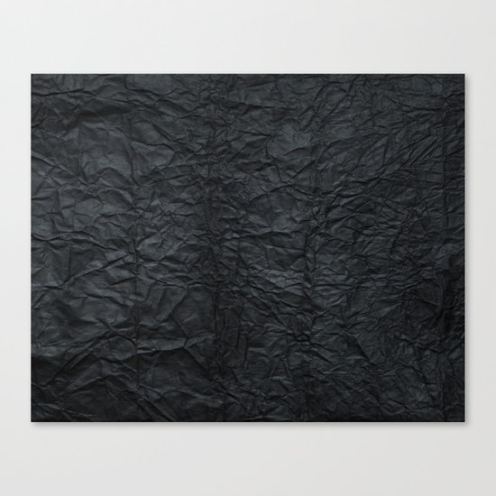 Black paper Canvas Print