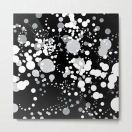 White Bubbles Metal Print