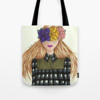 fawn Tote Bags featuring Fawn by Ally Marie