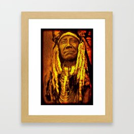 Chief Two Moons Framed Art Print