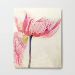 Poppy flower photograph Metal Print