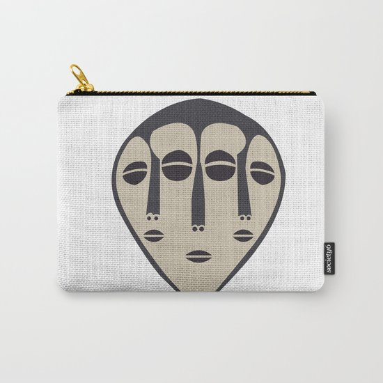 African Tribal Mask No. 5 Carry-All Pouch