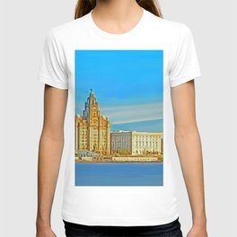 Liverpool 3 Graces (Digital Art) T-shirt