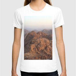 The view from Moses mountain. Sinai. T-shirt