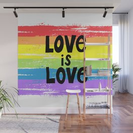 Love is love over the rainbow Wall Mural
