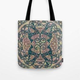 Art Nouveau Greyhound Celtic Knotwork Tote Bag