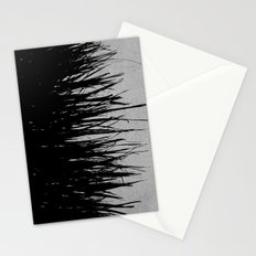 Concrete Fringe Black on Side Stationery Cards