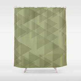 Sand triangles in the intersection and overlay. Shower Curtain
